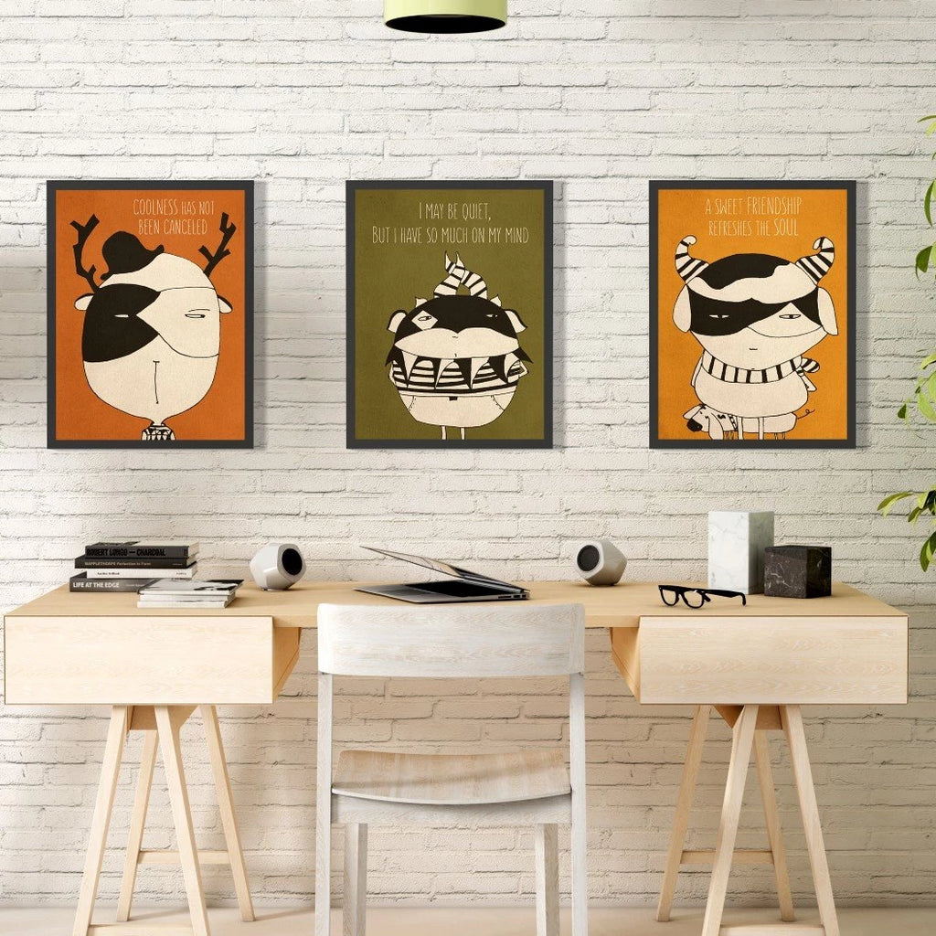 Cute monsters prints