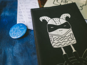 Man in mask passport cover