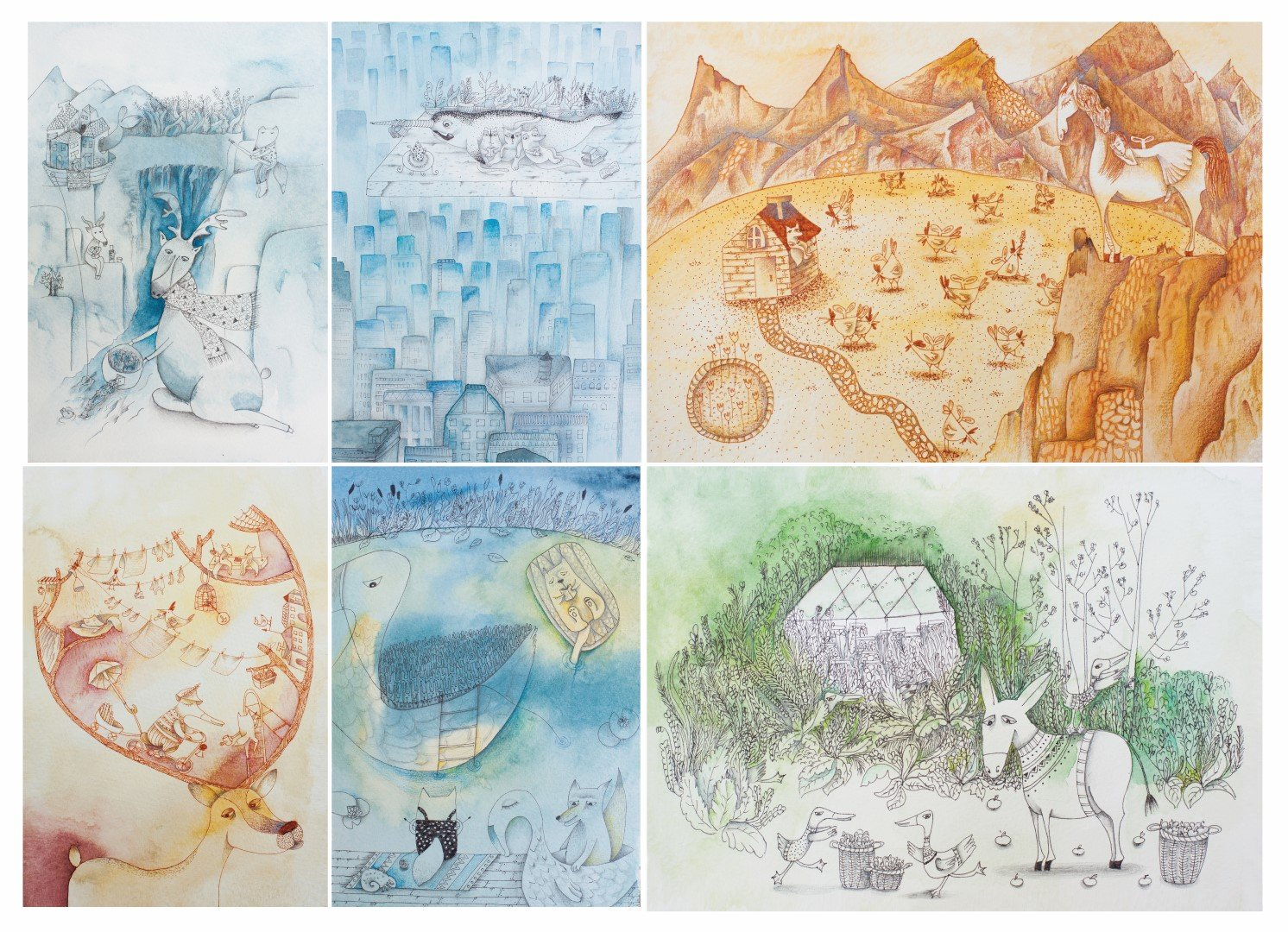 Watercolor fairy tales series