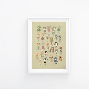ABC animals print.