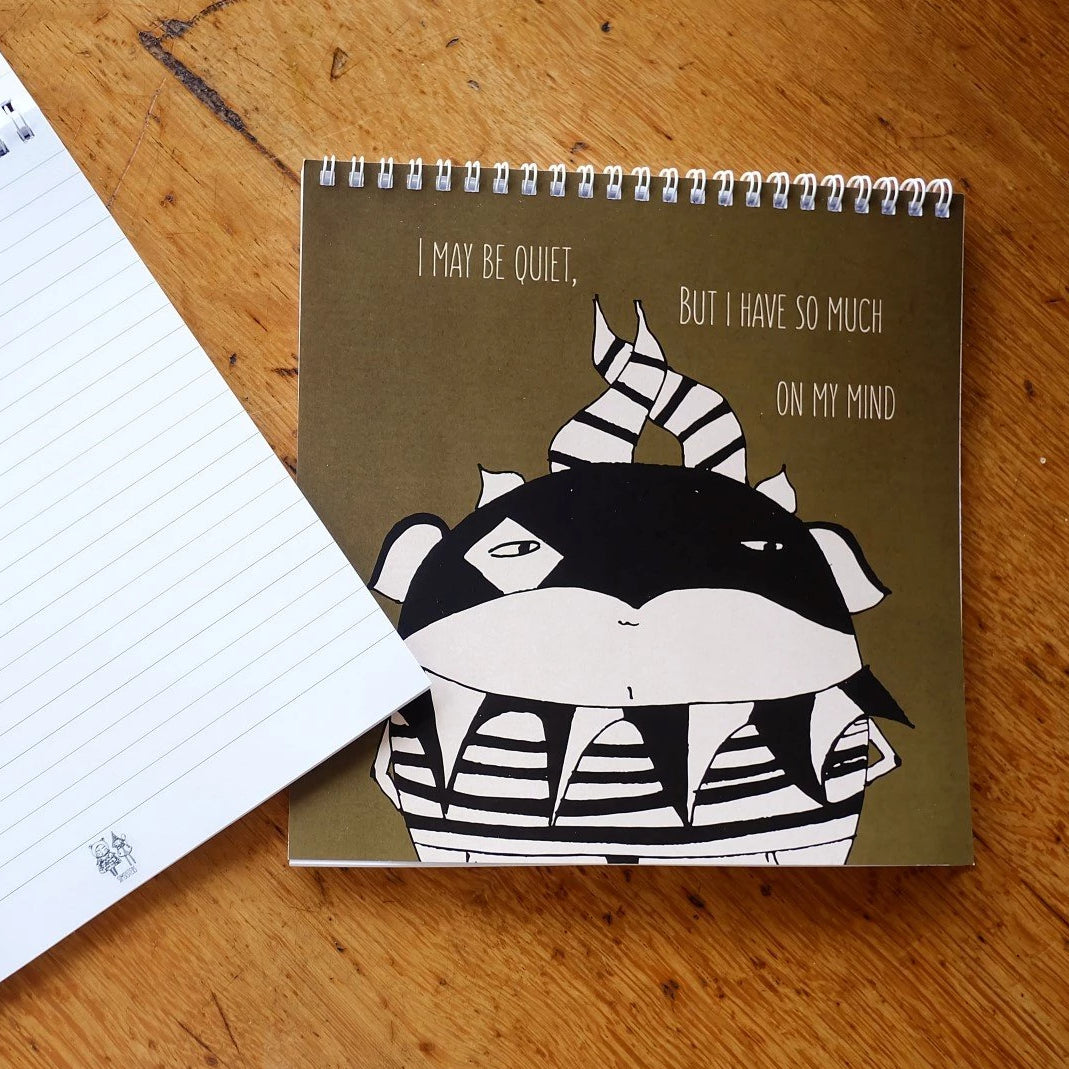 Inspirational square notebook.