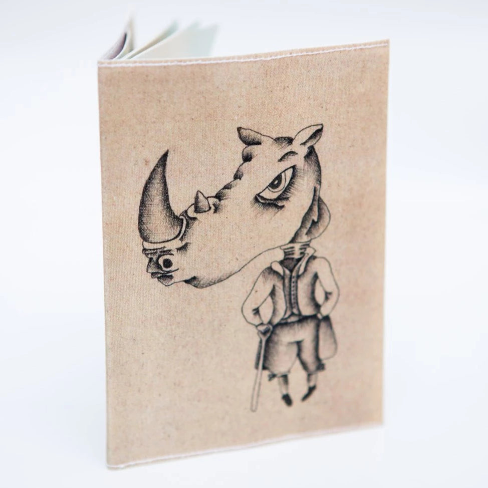 Rhino illustration Passport Cover