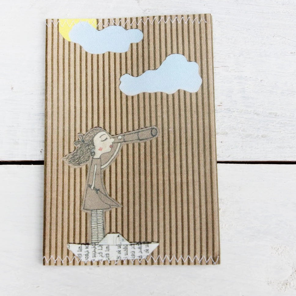 "Romantic fabric passport cover ""Pirate Girl"""