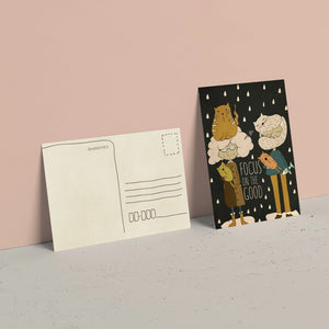 Focus on the good greeting card.