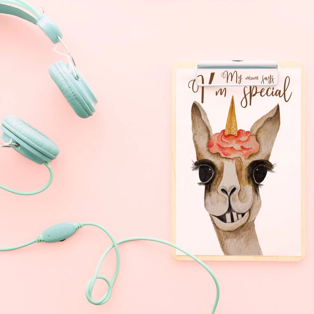 Special alpaca greeting card.