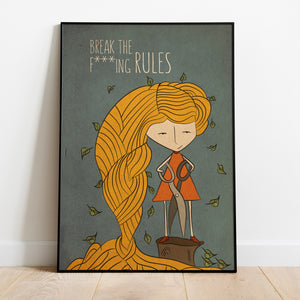 Break the rules motivation print