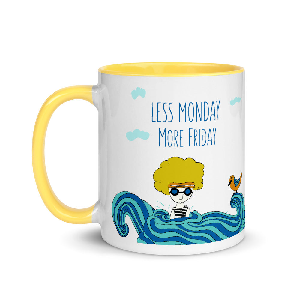 Less Monday more Friday - cute color coffee mug