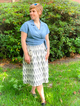 Load image into Gallery viewer, Vintage Chevron Midi Skirt
