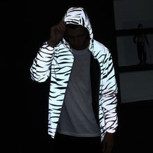 Load image into Gallery viewer, Reflective Material Jacket Zebra
