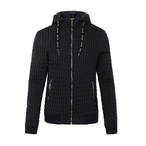 Winter Keep Warm  Lapel Plain Zipper Thicken Jacket