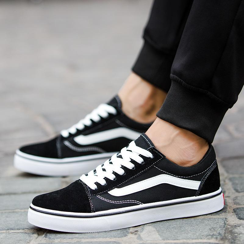 59be4cfda3b2c Couple Stripe Printed Canvas Shoes