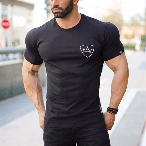 Fashion Sports Round Collar Solid Color T-Shirt