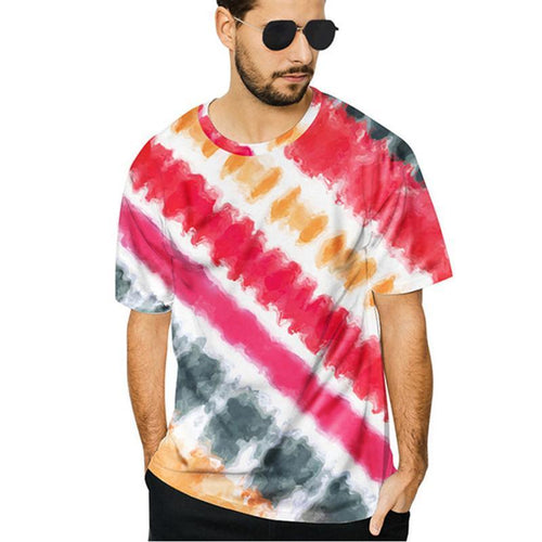Fashionable Striped Printed Short Sleeves T-Shirts