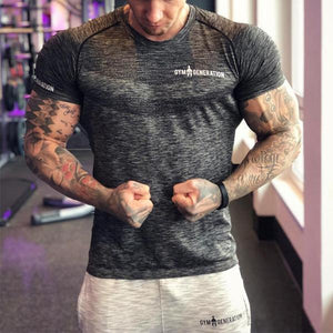 Fitness Tight Mesh Raglan Sleeves T-Shirt