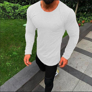Fashion Minimalist Striped Slim Long Sleeve T-Shirt