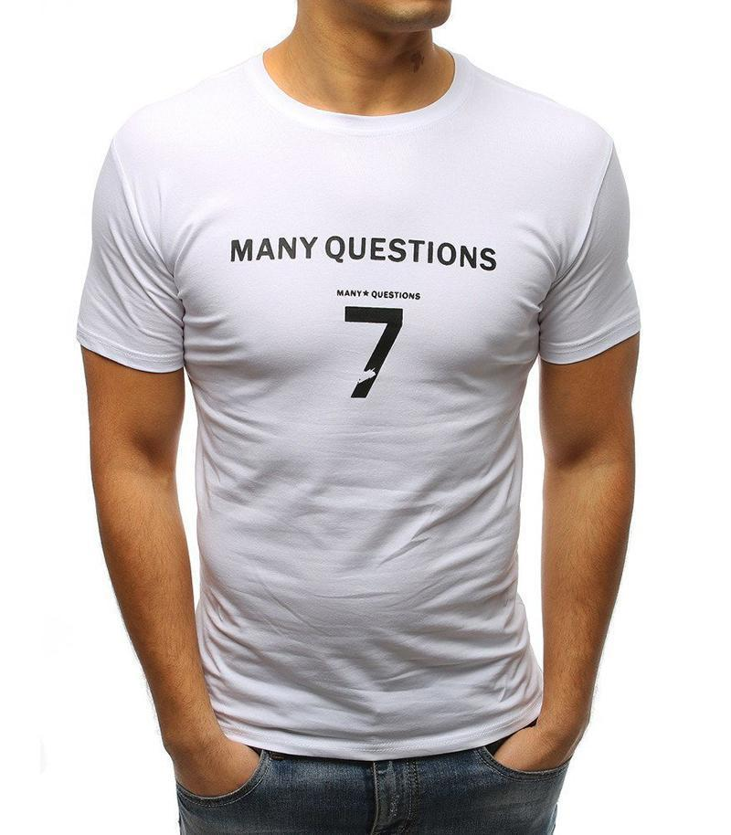 Men's Cotton Round Neck Print   Fashion Short-Sleeved T-Shirt