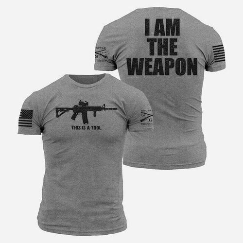 I Am The Weapon Printed T-Shirt