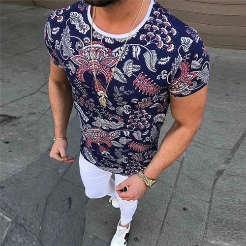 Men's Printed Short Sleeves T-Shirt