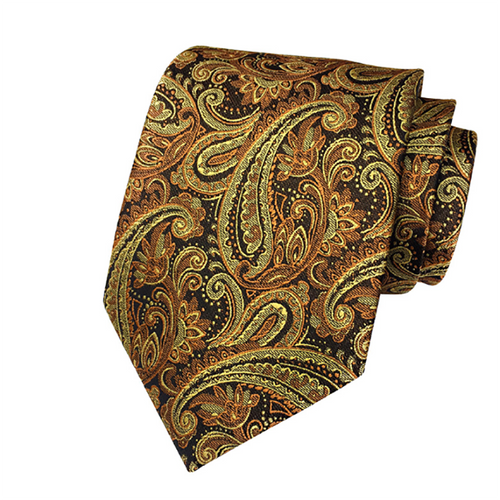 Fashion Paisley Big Flower Men's Ties