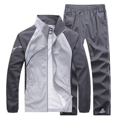Thin Color Matching Sportswear Suit Couple
