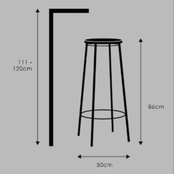 A guide to pairing stools with surfaces