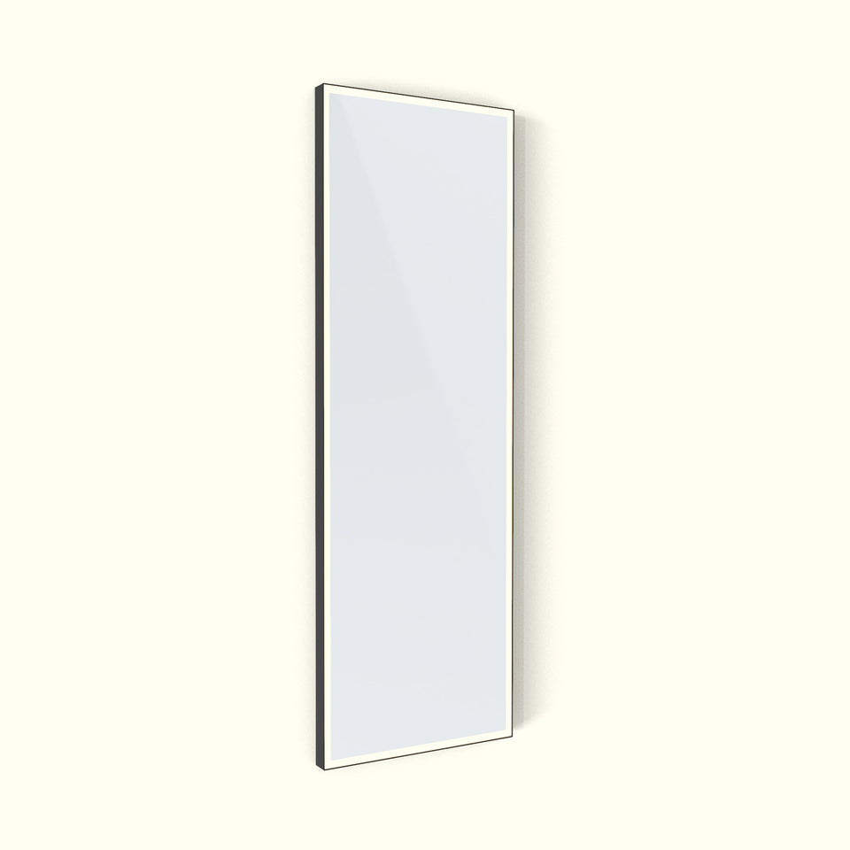Deep Frame Square Edge Mirrors - LED Frontlit