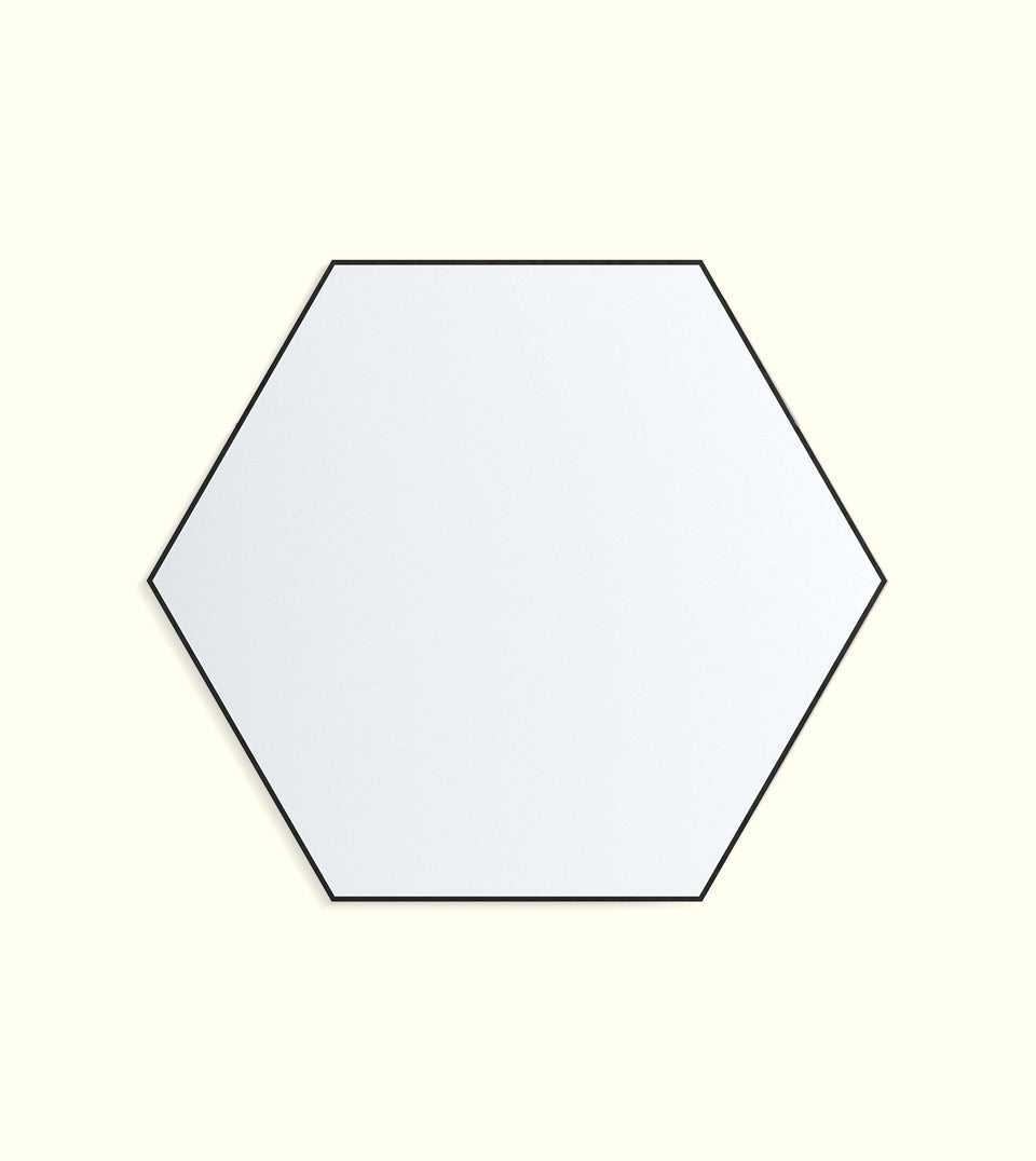 Hexagonal Wall Mirror - With Hook