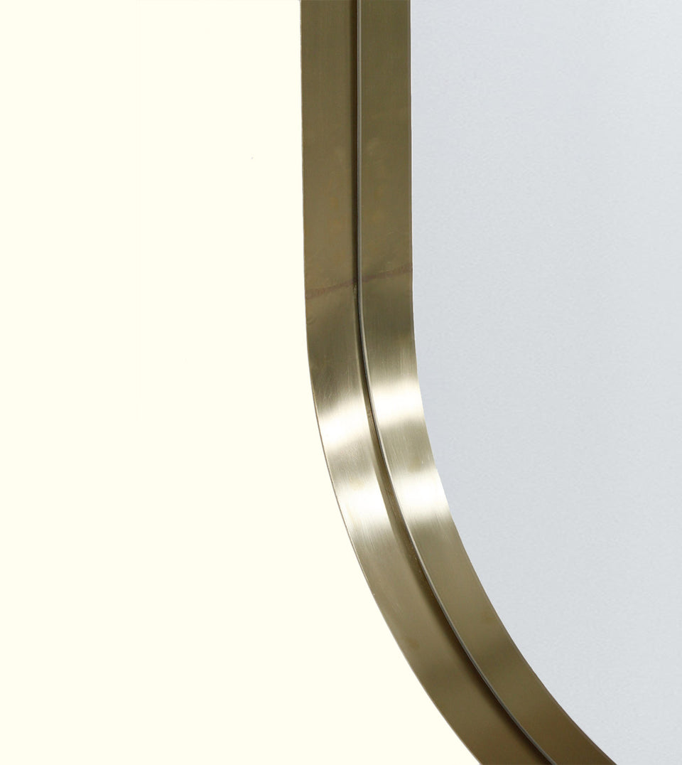 Brass Deep Frame Pill Mirrors