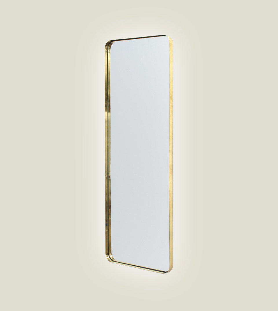 Brass Deep Frame Soft Edge Mirrors - LED Backlit
