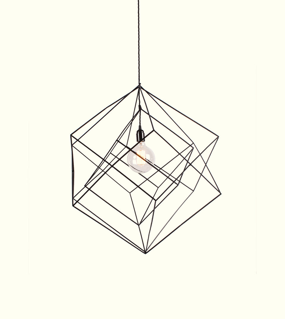 The Cube Skeleton Chandelier
