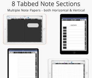 academic planner for college students digital notebook for goodnotes, notability, ipad planner note taking & android tablet