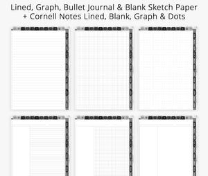 academic year planner college lined graph dot grid paper, digital planner for goodnotes, notability, noteshelf, ipad planner & android
