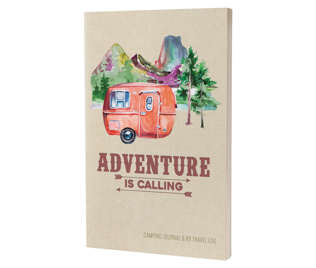 Camping Journal & RV Travel Logbook, Red Vintage