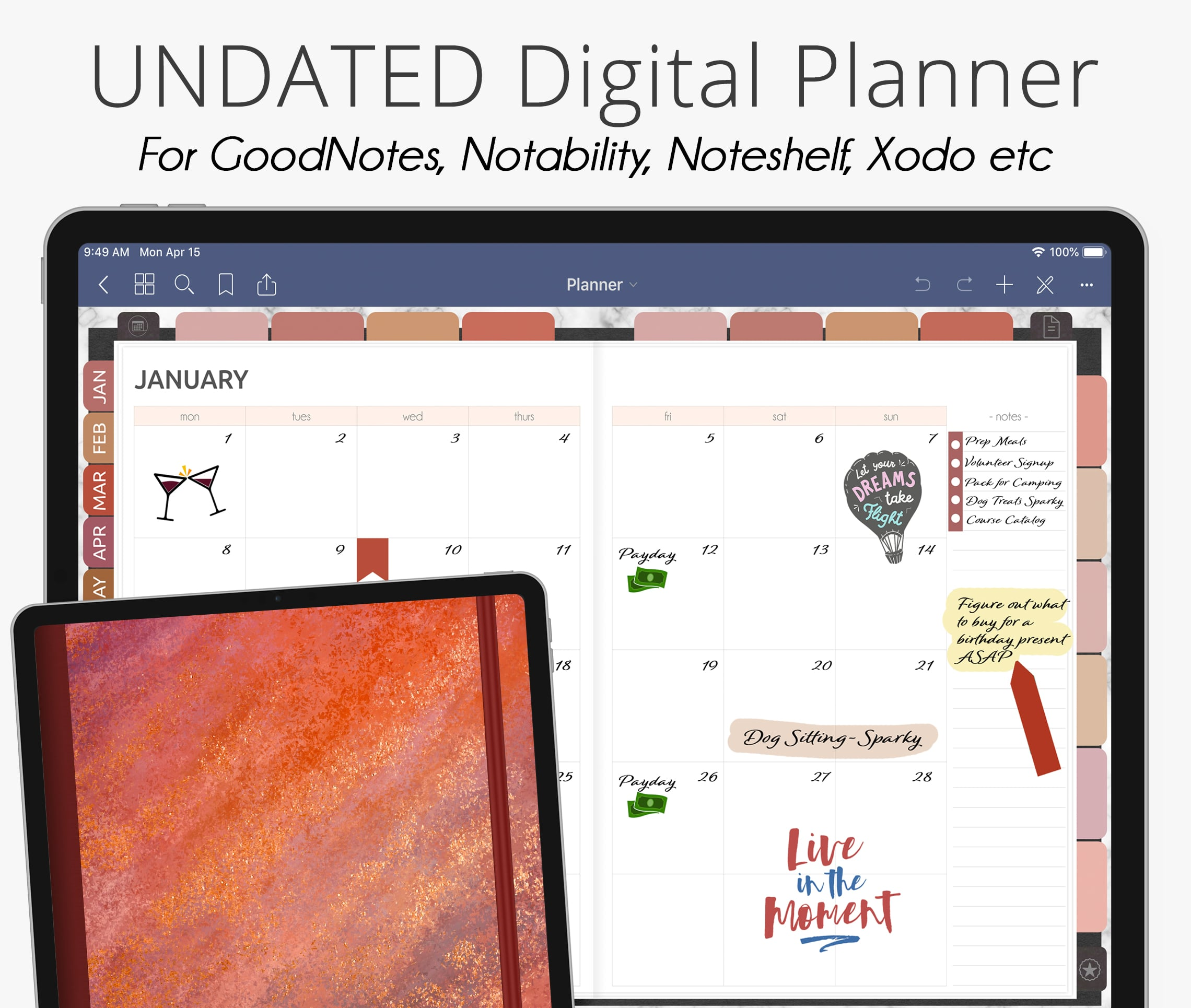 Desert Southwest Undated Weekly Digital Planner