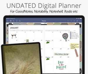 Earth Tones Undated Weekly Digital Planner