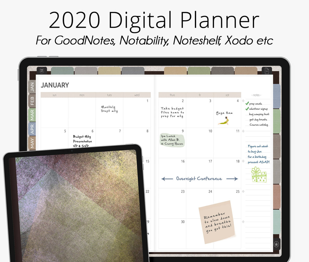 Earth Tones 2020 Dated Digital Planner