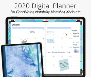 Seamist 2020 Dated Digital Planner