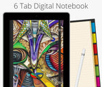 6 Tab Digital Notebook, Street Art