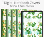 5 Digital Planner Covers, Cactus