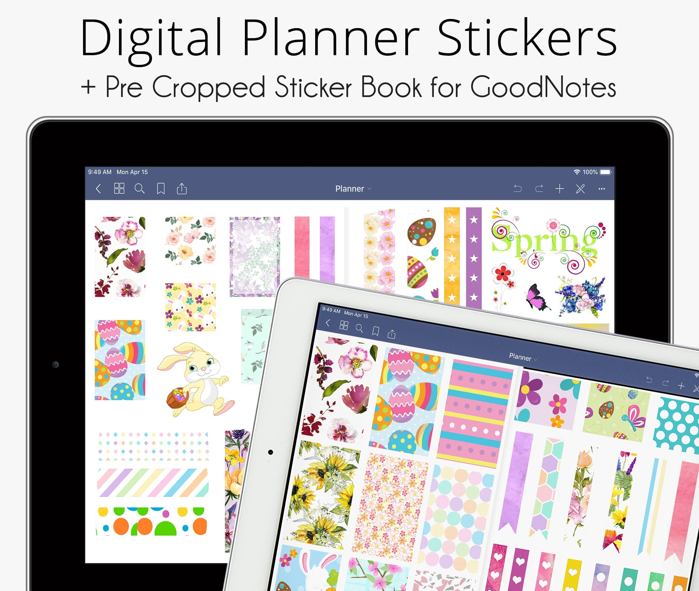 Digital Stickers Set, Spring & Easter Collection