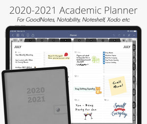 July 2020 - June 2021 Academic Planner, Minimalist