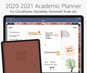July 2020 - June 2021 Academic Planner, Desert