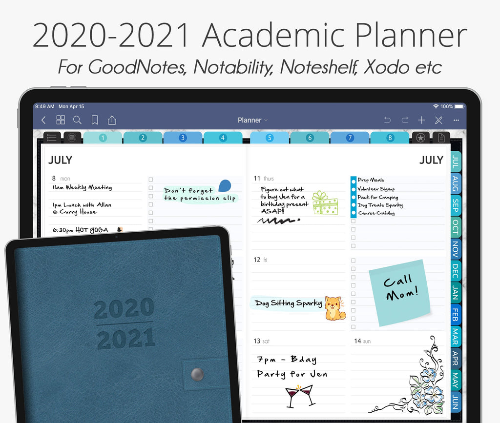 July 2020 - June 2021 Academic Planner, Seamist