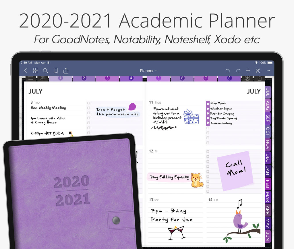 July 2020 - June 2021 Academic Planner, Mysteria