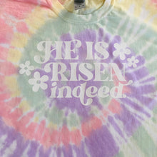 Load image into Gallery viewer, He is Risen Tie Dye Tee