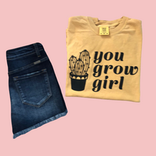 Load image into Gallery viewer, You Grow Girl Comfort Colors Retro Tee Ant Gold