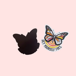 Set Yourself Free Butterfly Magnet