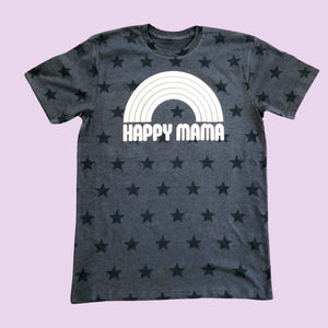 Happy Mama Star Print Graphic Tee