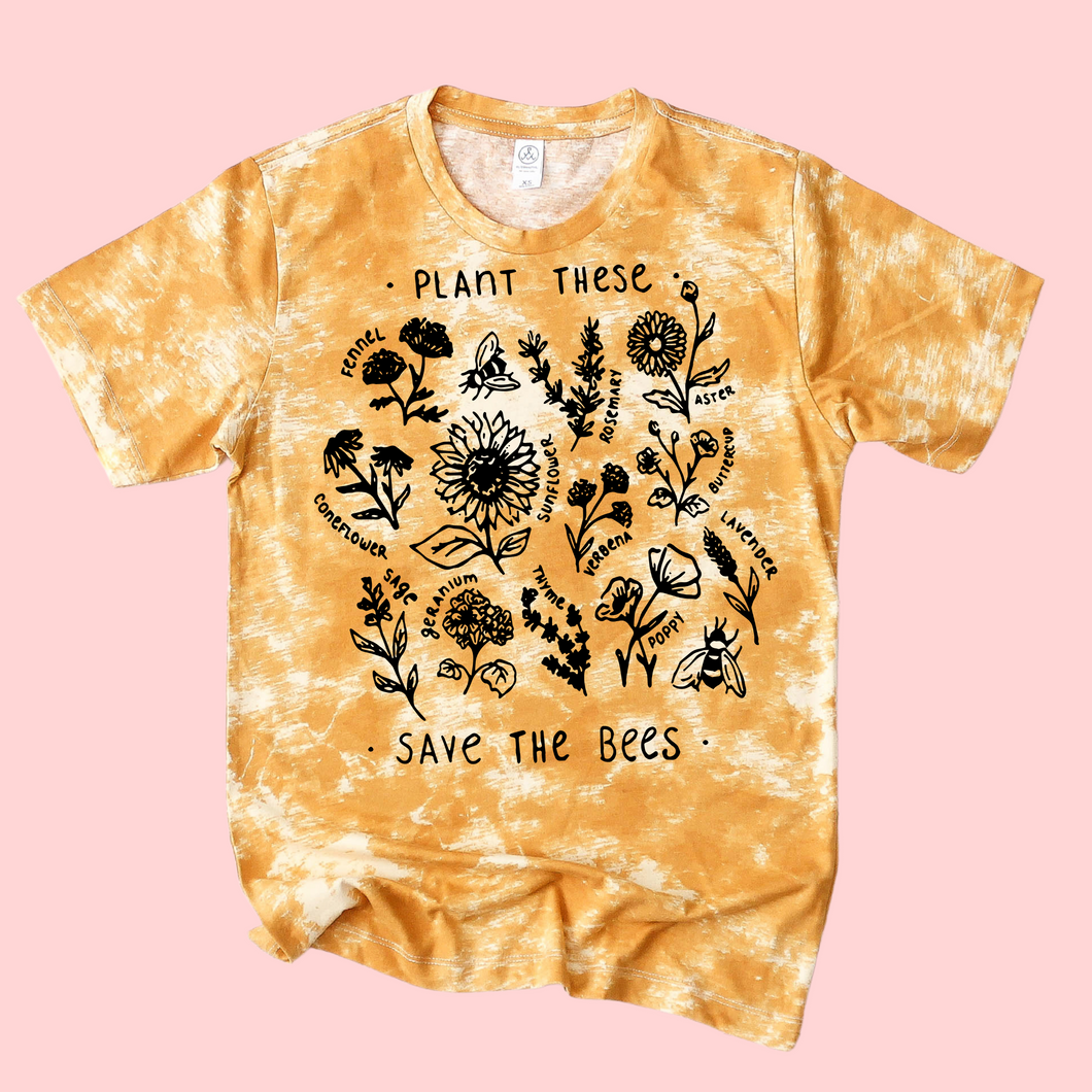 Save the Bees Mustard Cloud Tee