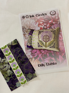 Ink Circles, Dilly Dahlia Pattern
